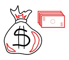 How to draw cartoon money