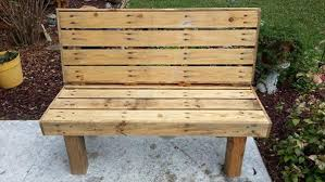 DIY Pallet Rustic Outdoor Bench