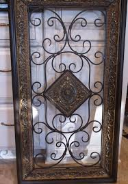 Vintage Large Wrought Iron Wall Art Personalized Amazing Stainless Steel Glasses Wholesale High Quality Etsy White