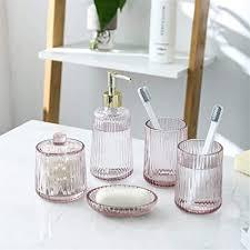 uzzhang 5pcs set glas badezimmer zubehör set seifenspender