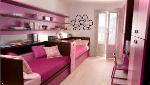 Pink And Purple Bedroom Designs Dark Brown Wooden Platform Bed