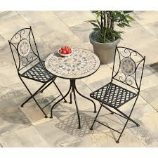 Turin Mosaic Bistro Set - Table & 2 Chairs Pub Tables Bistro Sets Table Asuntpublicos Tall Patio Chairs Swivel Strathmere Allure Bar Height Set Balcony Fniture Chair For Sale Outdoor Garden Mainstays Wentworth 3 Piece High Seats Www Alcott Hill Zaina With Cushions Reviews Wayfair Shop Berry Pointe Black Alinum And Fabric Free Home Depot Clearance Sand 4 Seasons Valentine Back At John Belden Park 3pc Walmartcom