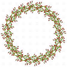 Wreath Made Of Little Red Flowers Royalty Free Vector Clip Art