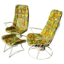 Vintage Homecrest Patio Furniture by Rare Pair Homecrest Rocking Lounge Chairs And Ottoman W Original