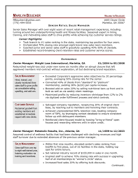 Professional Resume For Management Position