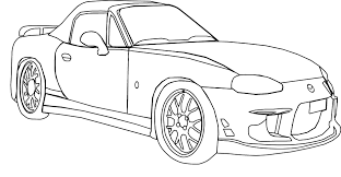 Machovka Car Mazda Black White Coloring Book Colouring ColouringbookorgSVG 95K