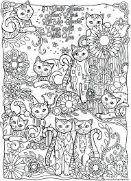 Coloring Book Cat Pages For Adult Realistic And Adults In The Hat
