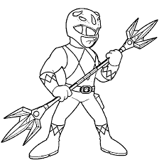 Power Rangers Coloring Page Pages Wecoloringpage Online