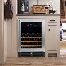 Kitchen Cabinet Wooden Wine Holder Rack With Glass Cellar Furniture Top