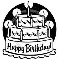 Cartoon Birthday Cake Vector Illustration