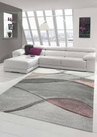 teppich modern teppich wohnzimmer abstrakt in rosa grau pastell größe 160x230 cm