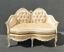French Provincial Accent Chair by Custom Vintage French Provincial Ornate Louis Xv Tufted Settee