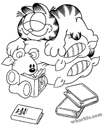 Garfield And Pooky Coloring Page