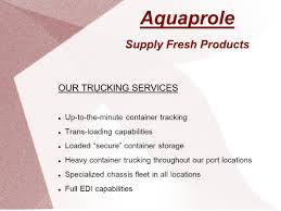 Aquaprole Supply Fresh Products Founded In 2003, Aquaprole Is A ... Electronic Data Interchange Edi Trucksoft How Can Boost Your Business In Todays Air Freight Industry Healthcare Bold Van Part 2 Brochure Design For Cdm Software Solutions Inc By Sharon Logistics Company Kansas City Mo 247 Express Is Dead Project44 Blog Transportation Ecutopia Integration Post Leading Depot Systems