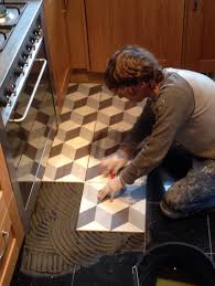 re tiling of a kitchen floor as you can see i am