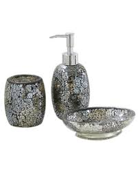 Mosaic Bathroom Mirrors Uk by Black And Gold Sparkle Mosaic Glass Bathroom Set Soap Dispenser