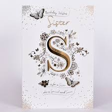 Birthday Card Sister Letter £149 Card Factory