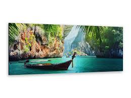alu dibond bild alp12502104 longboat in krabi 125 x 50cm