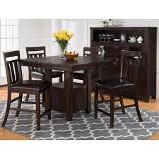 Kona Grove Pub Table W/ 4 Counter Chairs By Jofran