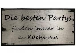 holzschild die besten partys finden immer in der küche statt 40 cm x 20 cm