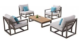 Tribeca Chair Set For 4 With 2 Club Chairs And Armless Middle Sofa