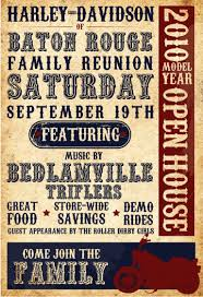 100 Open Houses Baton Rouge HarleyDavidson Of House Event Poster