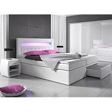 wohnen luxus boxspringbett 140x200 weiß mit bettkasten led kopflicht hotelbett polsterbett venedig