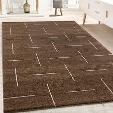 teppich wohnzimmer design meliert kurzflor braun