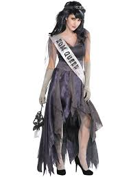 Fda Approved Halloween Contacts Uk by Ladies Zombie Prom Queen Costume Corpse Halloween Fancy Dress Plus