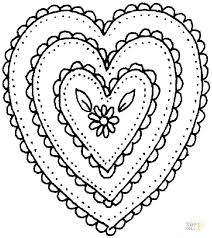 Heart Shape Coloring Pages And Also Click The Shaped Ornament