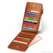 hmily genuine leather card wallet 20 card slot card bag large
