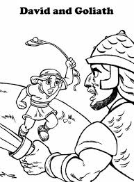 Good David And Goliath Coloring Pages 61 About Remodel Print With