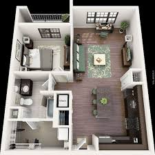 50 One Bedroom Apartment House Plans