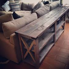DIY Wooden Farm Table As A Living Room Storage