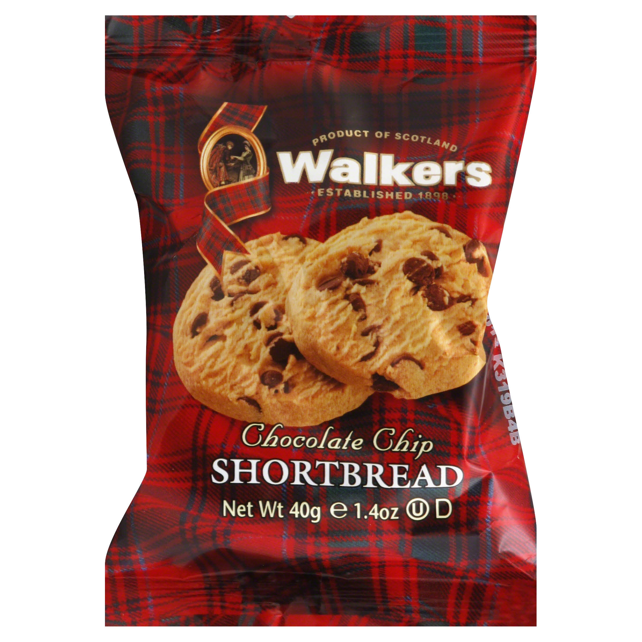 Walkers Shortbread, Chocolate Chip - 1.4 oz