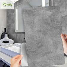 funlife 30x60cm licht grau zement tapete boden aufkleber