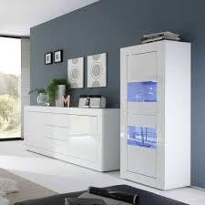 hochglanz wohnzimmermöbel in weiß sogno 2 teilig