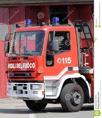 100 Fire Truck Sirens Italian S With Lettering And Blue Stock Photo