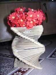 Flower Vase Using Icecream Sticks Elegant Ice Cream Stick Crafts Of