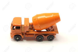 100 Toy Cement Truck A Vintage Orange Mixer On A White Background Stock Photo