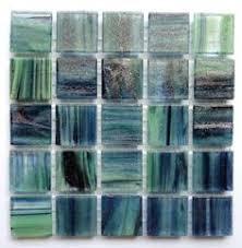 1 2 inch green iridescent transparent glass mosaic tiles