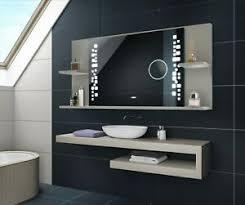 details zu badspiegel mit ablage und led beleuchtung lichtspiegel bt makeup hellgrau 38