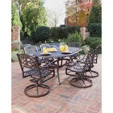 7 Piece Patio Dining Set Walmart by Home Styles Biscayne Bronze 7 Piece Swivel Patio Dining Set 5555