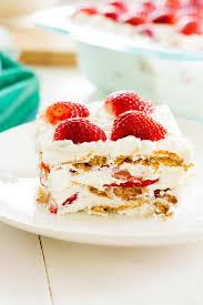 Strawberry Shortcake Icebox Cake