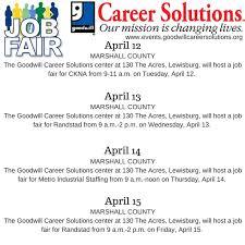Job Fairs April 12 15 lewisburgtn
