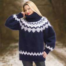 sweaters hand knitted sweater with icelandic pattern by supertanya