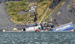 Deadliest Catch Boat Sinks Crew by Shipwrecks Take Long Path To Cleanup