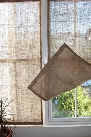 The Shingled House Burlap Window Shades Kitchen CurtainsDyi