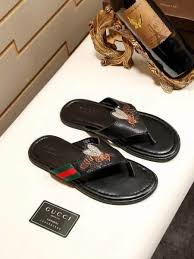 GUCCI Gucci Mens Slippers Special 2018 New Type Flip Flops Bee Beach Shoes Malaysia