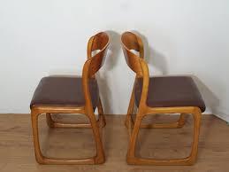 chaise traineau baumann suite de 6 chaises traineau baumann simili cuir majdeltier